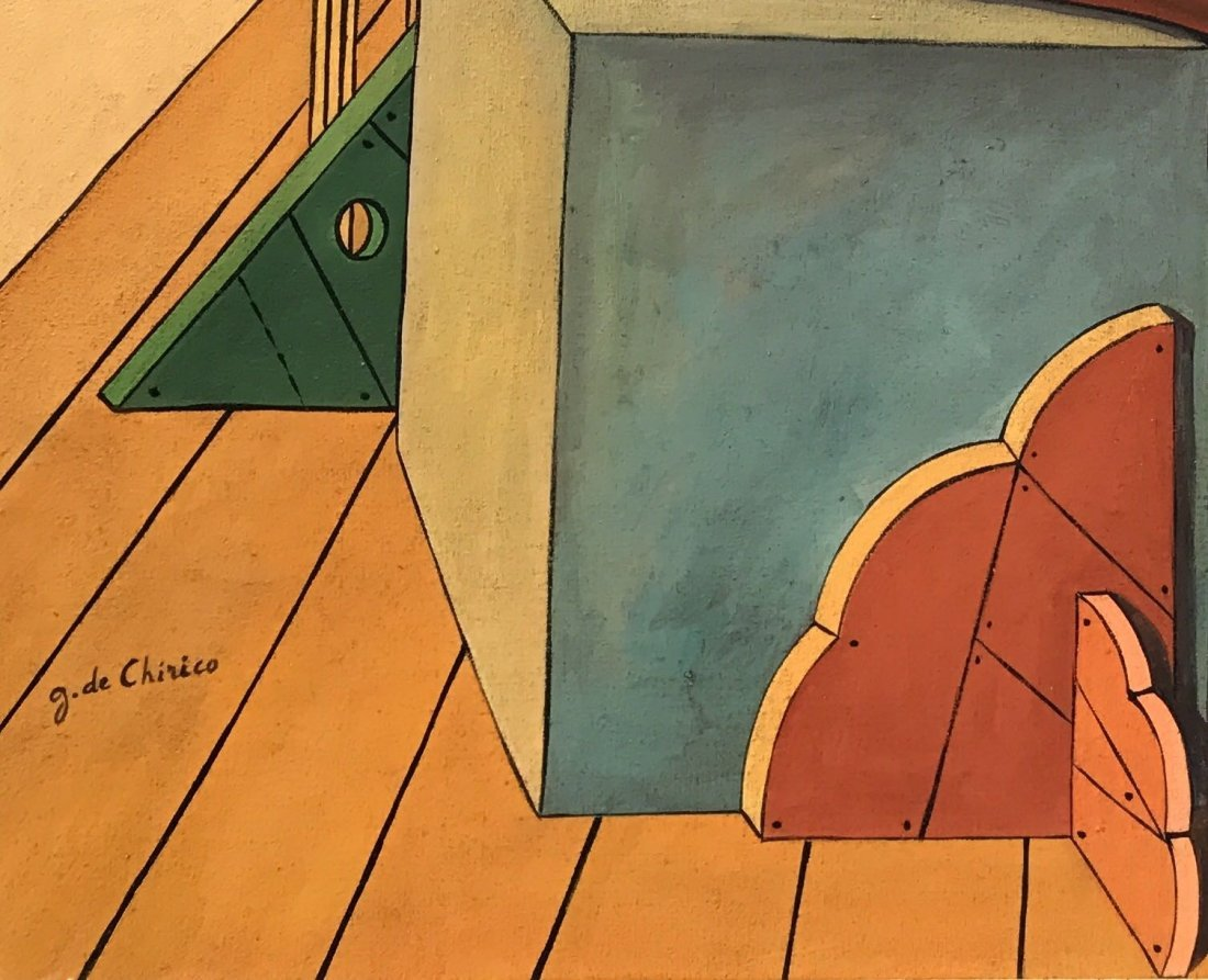 Giorgio De Chirico (1888-1978) Oil On Canvas - 3
