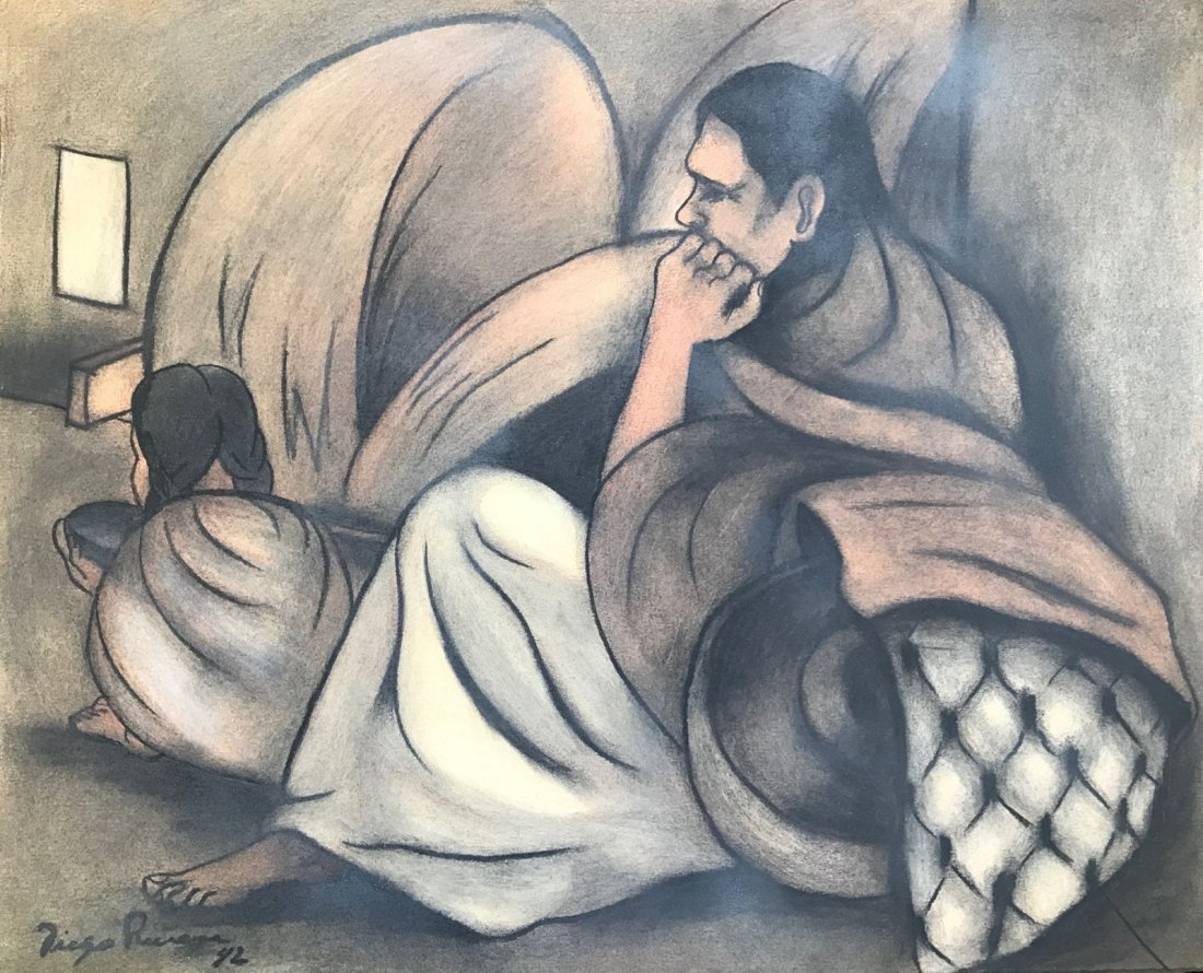 Diego Rivera (1886-1957) Charcoal on paper