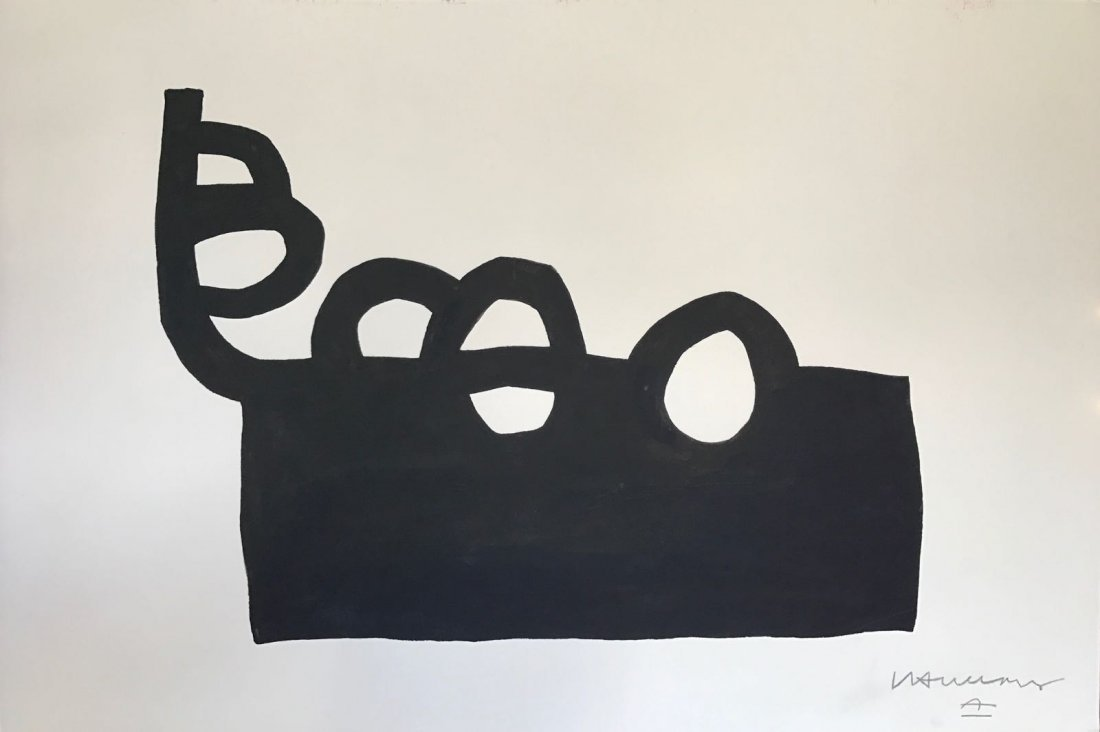 Eduardo Chillida(1924-2002) Ink on paper