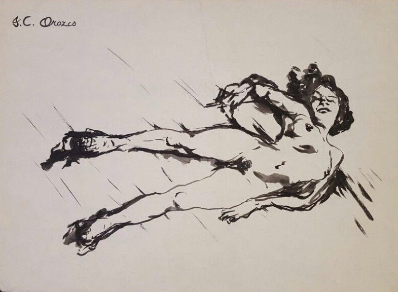 Jose Clemente Orozco Ink on paper - 3