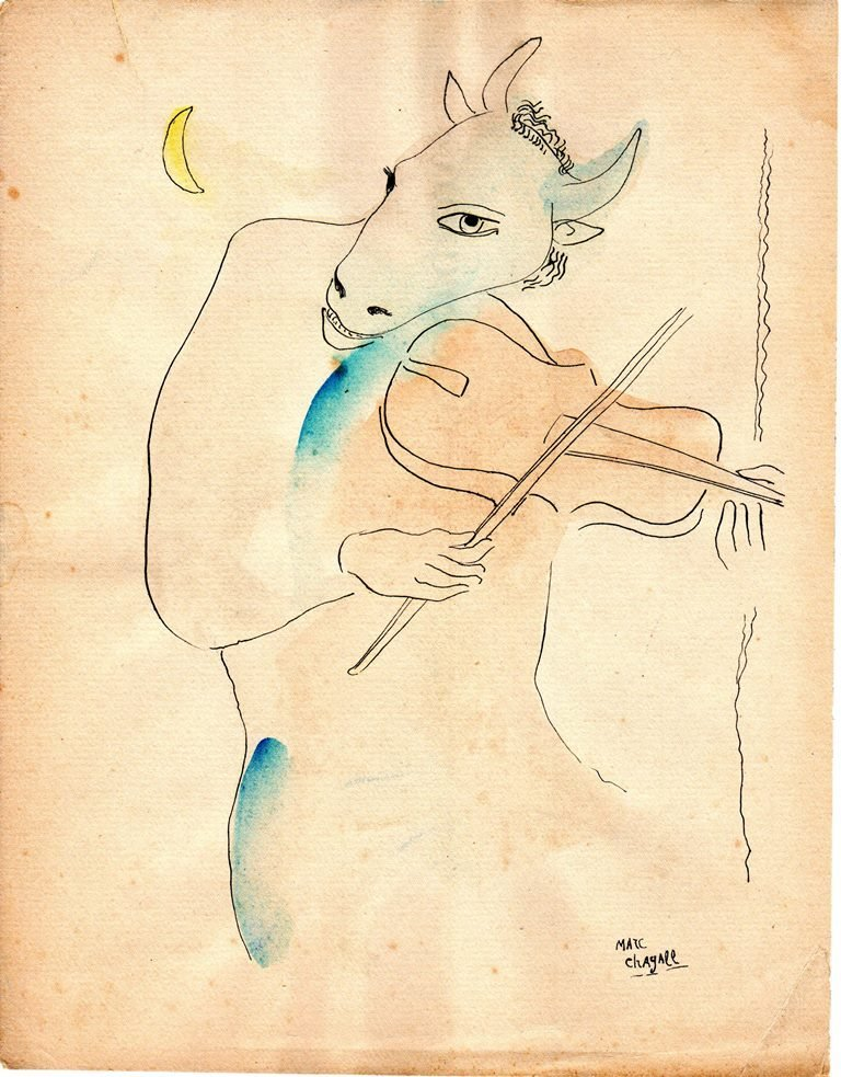 Marc Chagall (Watercolor on paper)