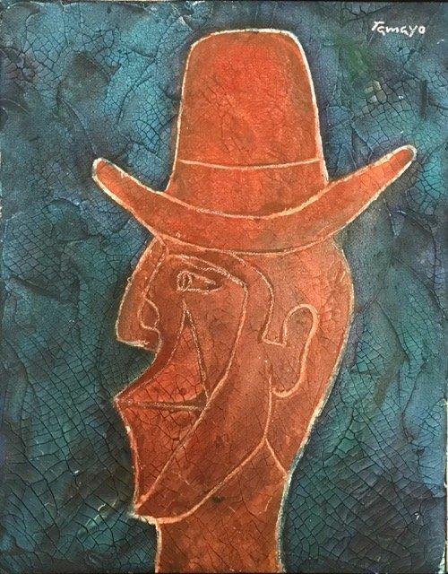 Rufino Tamayo (Oil on burlap)