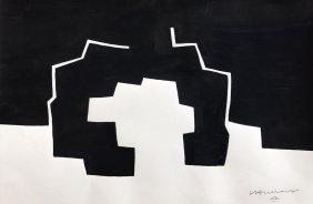 Eduardo Chillida (Ink on hard paper) V $8,000