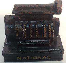 National Cash Register Cast Iron Paperweight