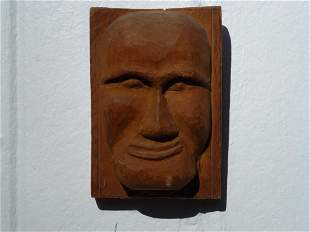 Carved Plaque Man's Face