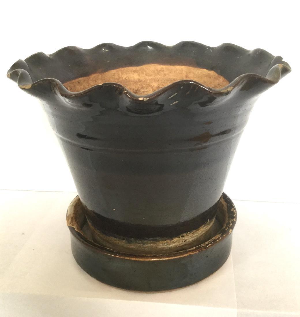 Albany Slip Glazed Flower Pot & Tray