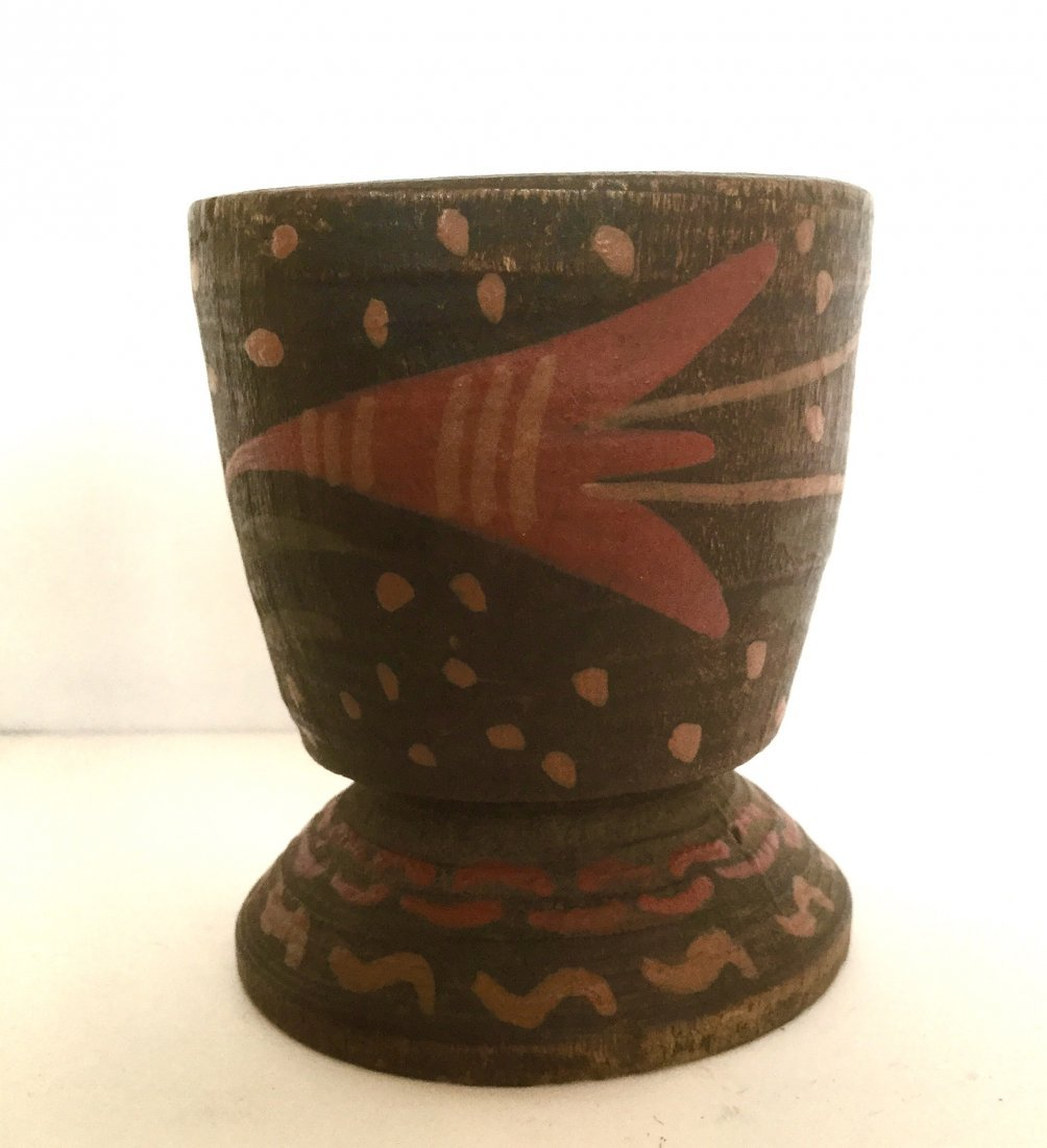 Hand Painted Treen Container