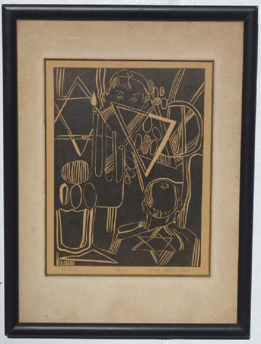 """""""Riches"""" Woodcut, Anne Bell"""