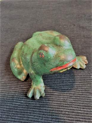 Painted Cast Iron Frog