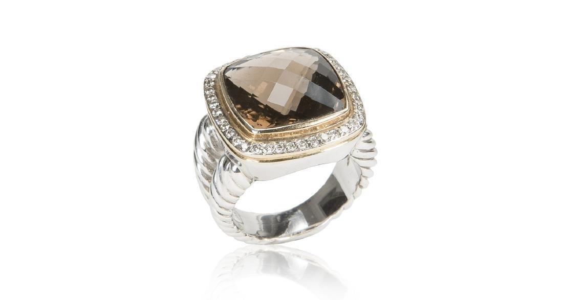 David Yurman Albion Collection Smoky Quartz Ring