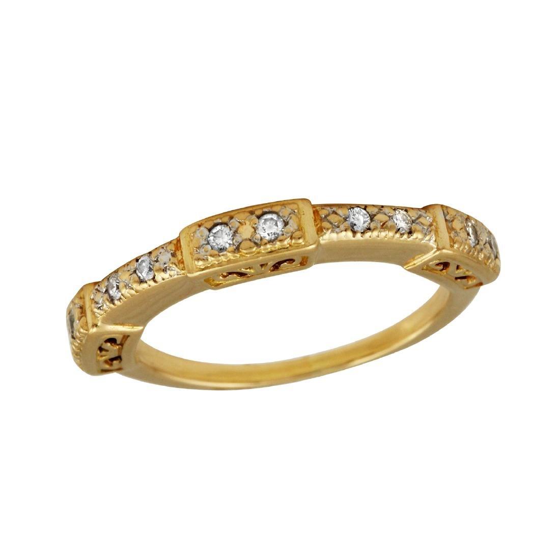 Philippe Charriol 18K Yellow Gold Diamond Ring