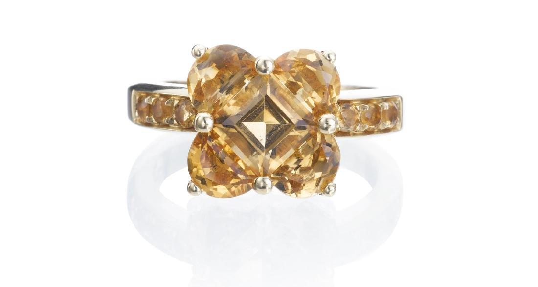 Salavetti 18K Yellow Gold Citrine Ring