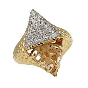 Phillips House 14K Gold Apogee Diamond Citrine Ring