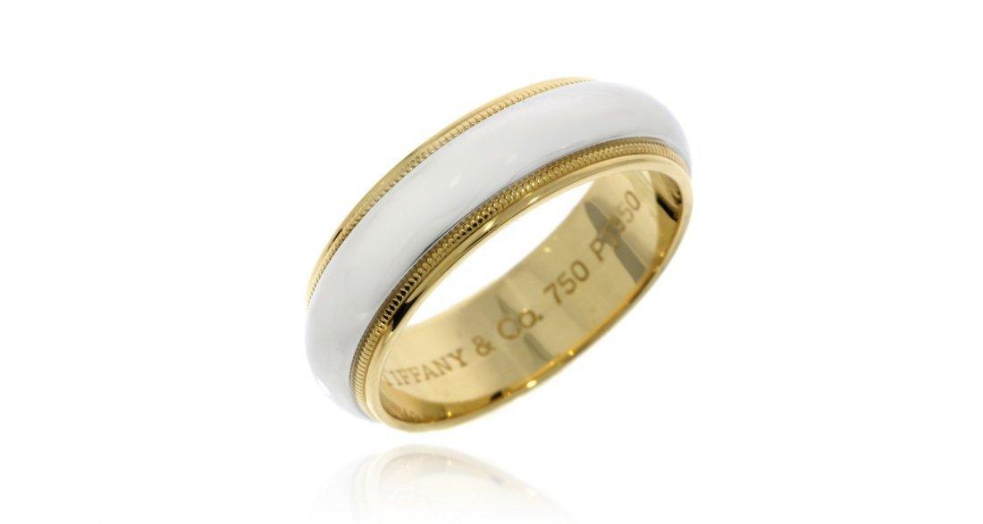 Tiffany & Co Platinum 18K Gold Wedding Band