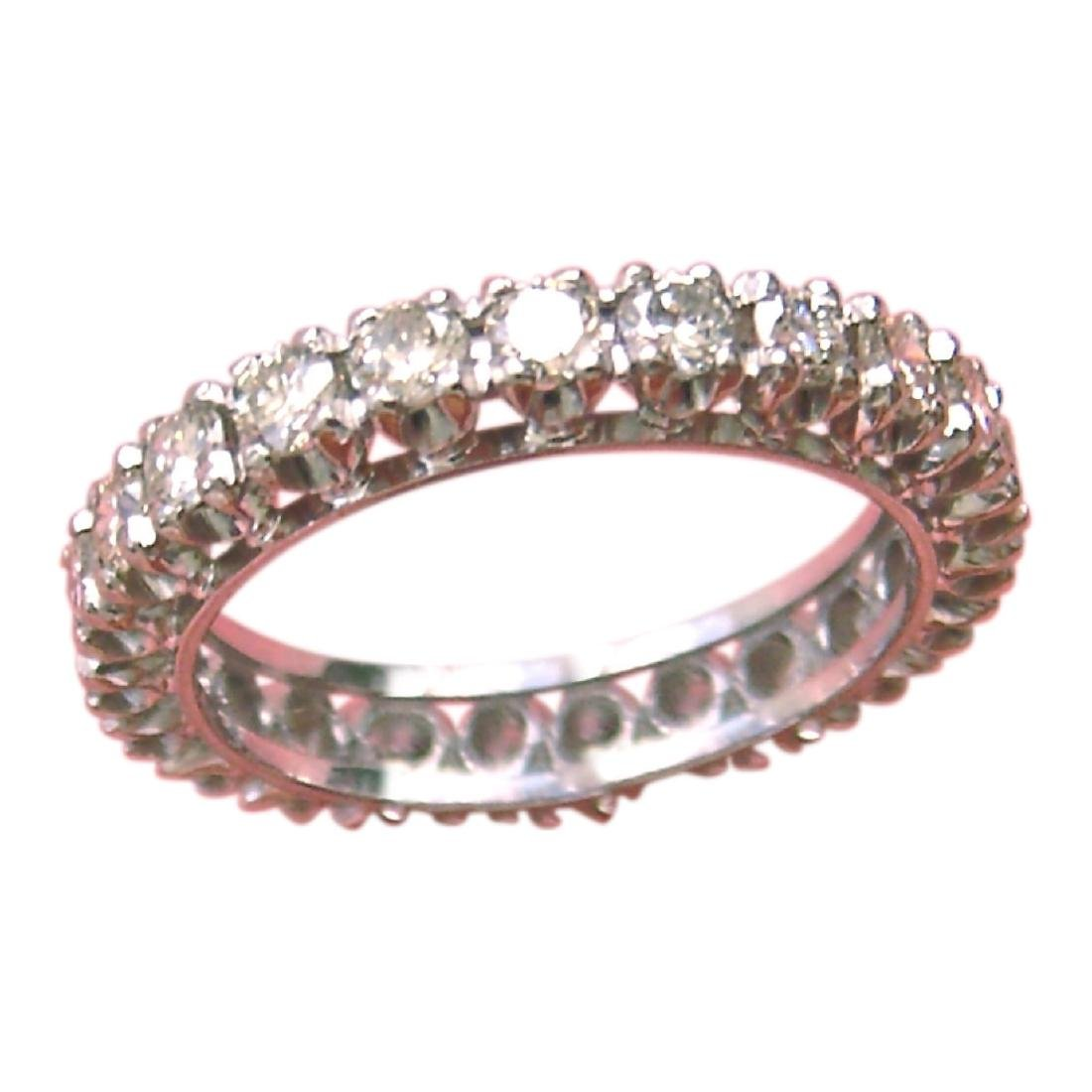 Vintage 18K Gold Diamond Eternity Band Ring, 1960