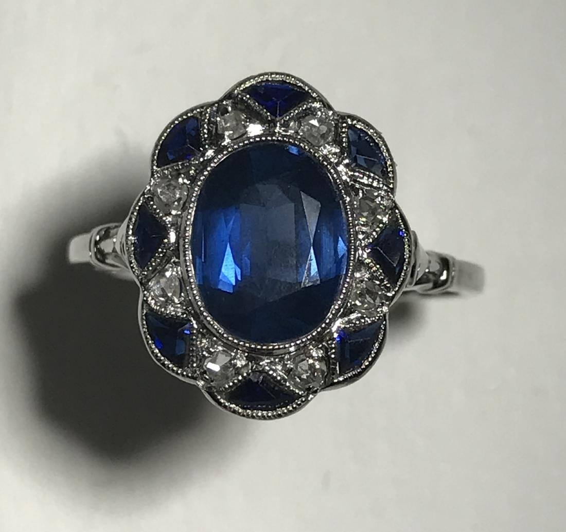 Estate Art Deco Sapphire & Diamond Ring
