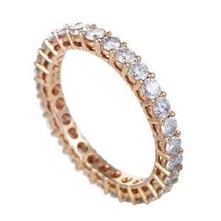 18K Rose Gold Diamond Eternity Band Ring