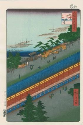 Ando Hiroshige: Hall of Thirty-Three Bays, Fukagawa