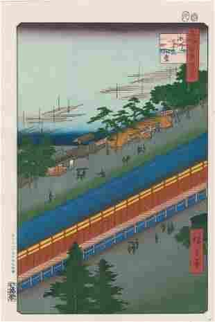 Ando Hiroshige: Hall of Thirty-Three Bays, Fukagawa