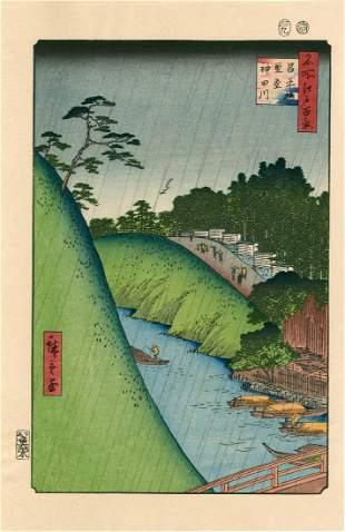Ando Hiroshige: Seido and Kanda River from Shoei Bridge