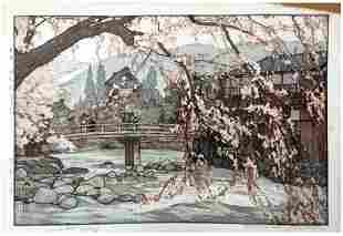 Hiroshi Yoshida: Spring in a Hot Spring