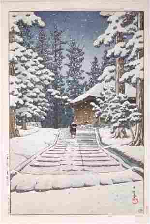 Hasui Kawase: Konjikido in Snow+Bonus Print