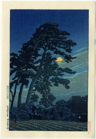Hasui Kawase: Moon at Magome+Bonus Print