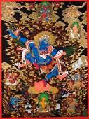 Nima Dorje Lama: Garuda Thangka Painting