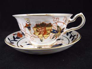 Royal Crown Derby for Tiffany Footed Cup & Saucer