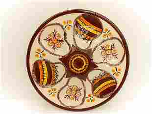 Henriot Quimper Hand Painted Faience Oyster Plate