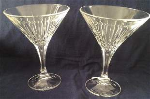 2 Waterford Style Crystal Wine Glasses