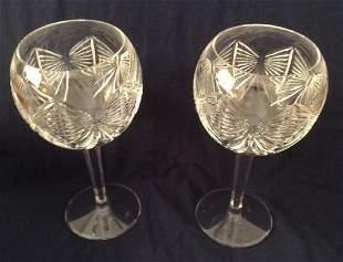 2 Waterford Crystal Hock Glasses