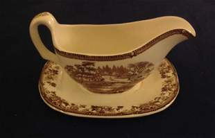 Royal Staffordshire Tonquin Brown Gravy/Sauce Boat