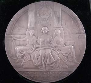 Hudson Fulton Celebration Sterling Medal 1909