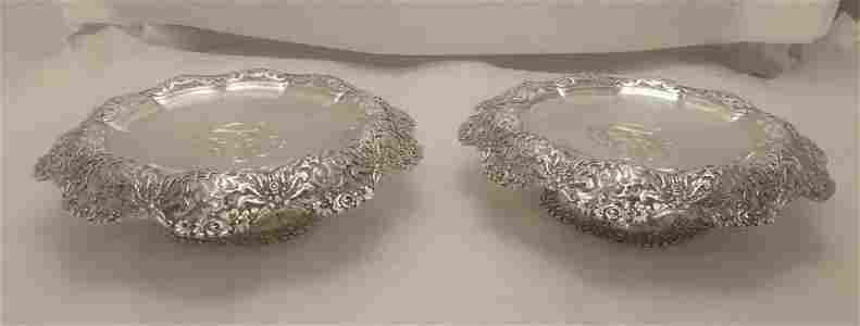 Pair of Tiffany & Co. Sterling Silver Footed Tazzas