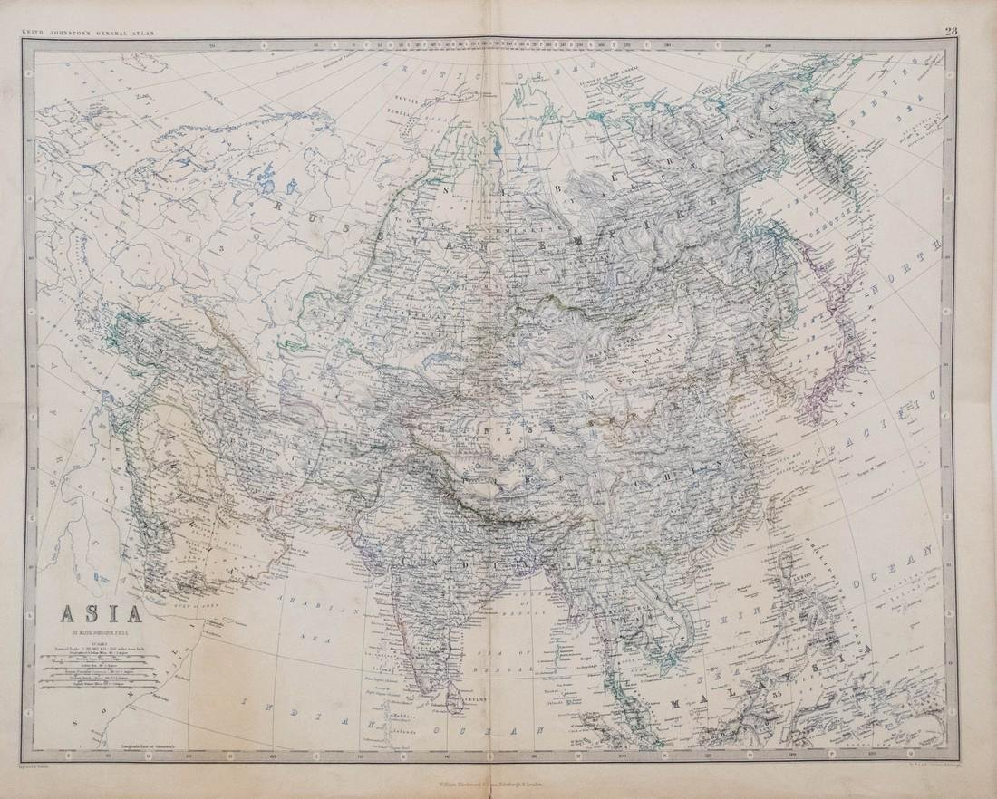 A. K. Johnston Map of Asia, 1861