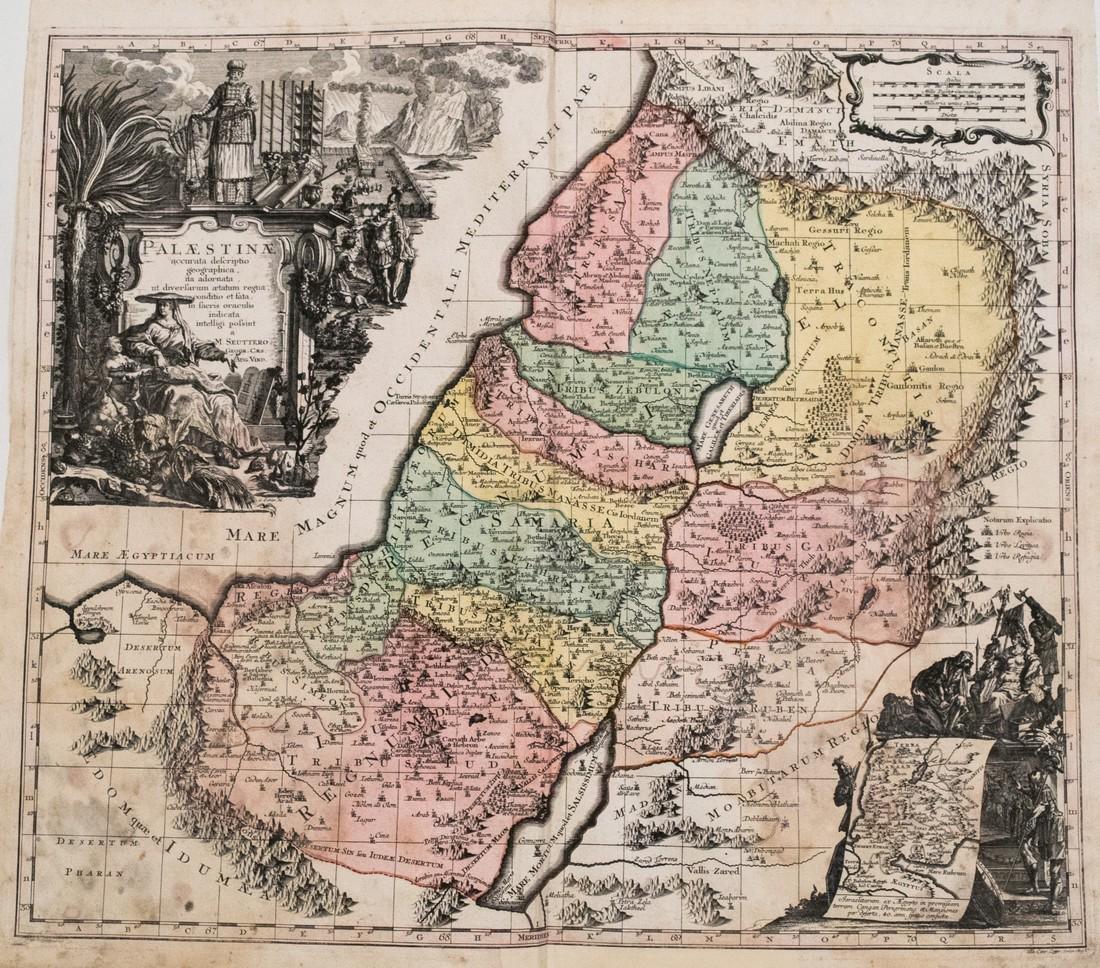 Seutter Map of Palestine, 1753