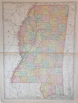 Map of Mississippi, 1898