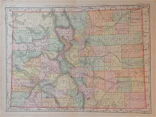 Map of Colorado, 1898