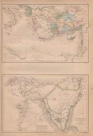 Map of the Travels of St. Paul, Lower Egypt, 1885