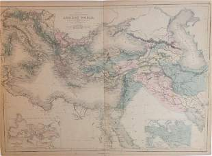Map of Principal Countries of the Ancient World, 1885