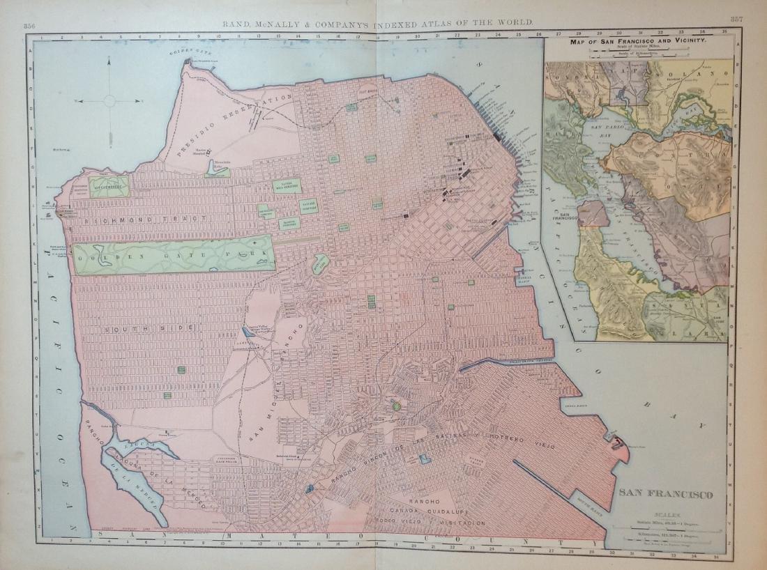 Map of San Francisco, 1898