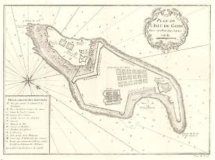 Plan De L'isle De Gore Avec Ses Fortifications