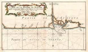 Carte De La Riviere De Kalbar, 1748