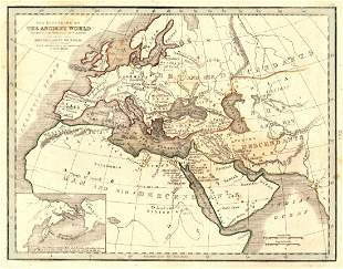 Map of The Countries of The Ancient World, 1835