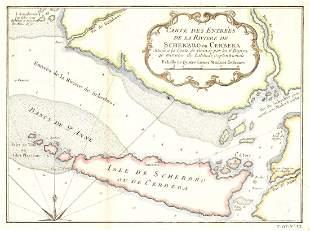 Carte De Entrees De La Riviere, 1746
