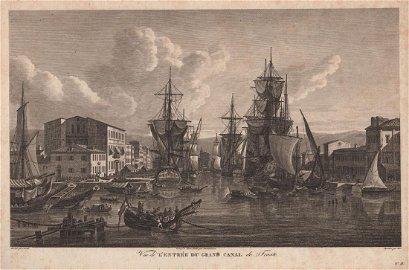 Vue de l'Entrée du Grand Canal de Trieste Map