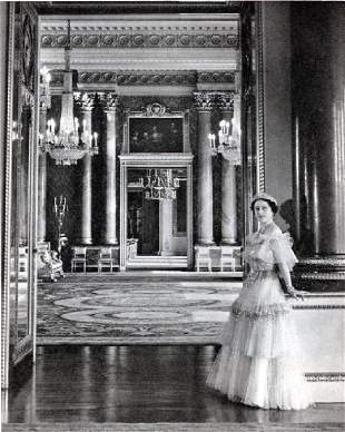 Beaton, Cecil - The Queen at Buckingham Palace