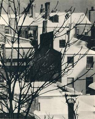 Bodine, A. Aubrey - Snow-covered Roofs