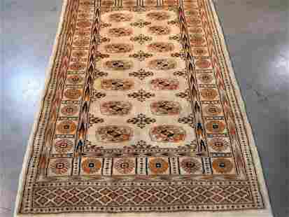 Hand Knotted Wool Bokhara Rug 3x5